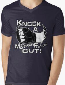 Knock a Motherfucker Out Mens V-Neck T-Shirt
