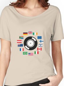 World wide DJ Women's Relaxed Fit T-Shirt