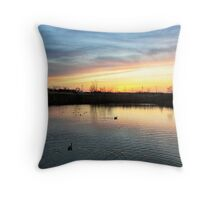 Twilight at the Quarry Throw Pillow