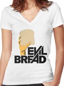 Evil Bread Women's Fitted V-Neck T-Shirt
