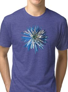 Blue and white chrysanthemum print/t-shirt/case/mug/duvet cover/cushion/tote Tri-blend T-Shirt