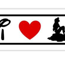 I Heart Little Mermaid (Classic Logo) Sticker