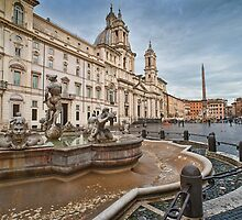 Piazza Navona in the morning by Andrea Rapisarda