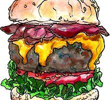 bacon cheeseburger by HiddenStash