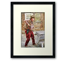 Fast Draw Gramps Framed Print