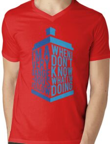 Dr Who - Baker Quote Mens V-Neck T-Shirt