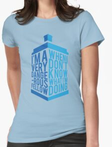 Dr Who - Baker Quote Womens Fitted T-Shirt