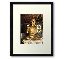 Buddha in Portmeirion Wales Framed Print