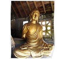 Buddha in Portmeirion Wales Poster