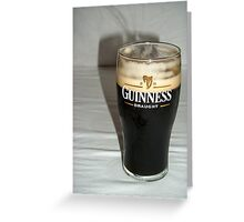 Nice pint of Guinness Greeting Card