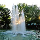 evening fountain by LoreLeft27