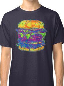 Neon Bacon Cheeseburger Classic T-Shirt
