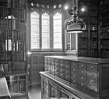 John Rylands Library (Black and White) by Stephen Knowles