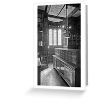 John Rylands Library (Black and White) Greeting Card