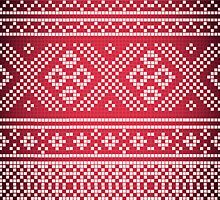Northern Pattern (red&white) by recklessrocker