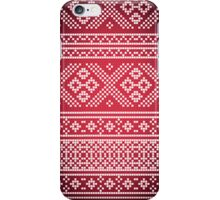 Northern Pattern (red&white) iPhone Case/Skin