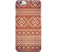 Northern Pattern (golden&white) iPhone Case/Skin