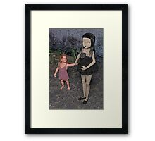 The Doll and Her Child Framed Print