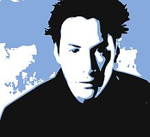 Keanu Reeves in the Matrix, Blue by Kathryn8