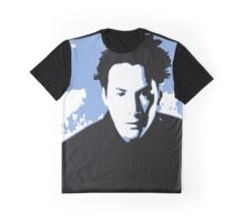 Keanu Reeves in the Matrix, Blue Tone Graphic T-Shirt