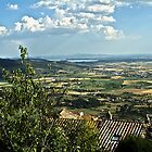 Lake Trasimeno (Italian: Lago Trasimeno) from Cortona by newbeltane