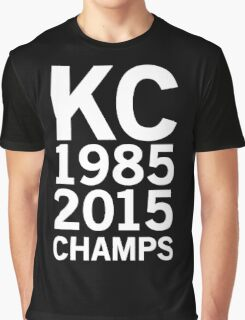 KC Royals 2015 Champions LARGE WHITE FONT Graphic T-Shirt