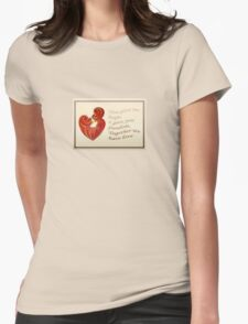 Together We Have Love Greeting  Womens Fitted T-Shirt
