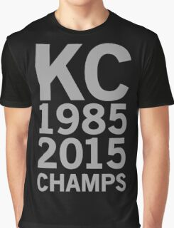 KC Royals 2015 Champions LARGE GRAY FONT Graphic T-Shirt