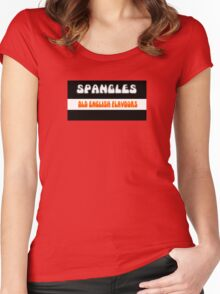 Old English Spangles 1970s retro boiled sweets Women's Fitted Scoop T-Shirt