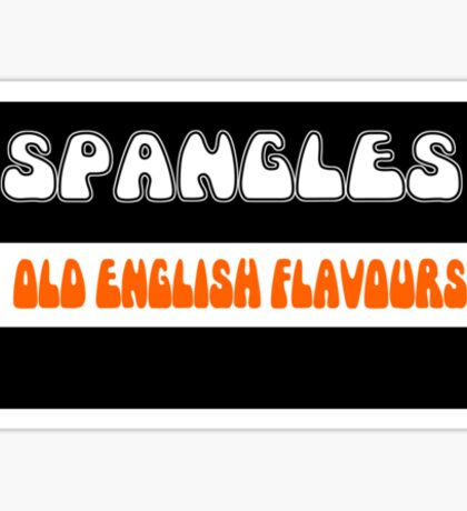 Old English Spangles 1970s retro boiled sweets Sticker