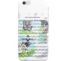 Howl's Moving Castle Sheet Music iPhone Case/Skin