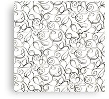 Black and White Swirls Canvas Print