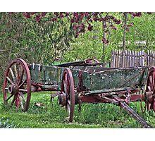 Worn Wagon Photographic Print