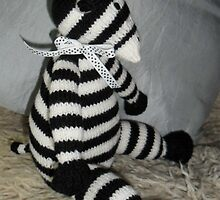 Knitted Zebra by Dionne Meade