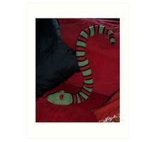 Knitted Snake Art Print
