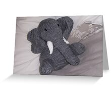 Knitted Elephant Greeting Card