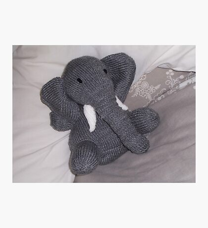 Knitted Elephant Photographic Print