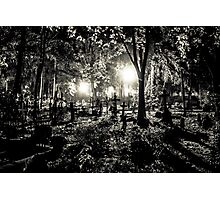 Night at the Cemetery Photographic Print
