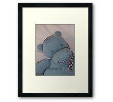 Knitted Hippo Framed Print