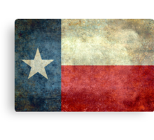 """The """"Lone Star Flag"""" of The Lone State Texas Canvas Print"""