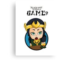 Do you want to play a game? Canvas Print