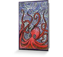 Octopus and Swirls Greeting Card