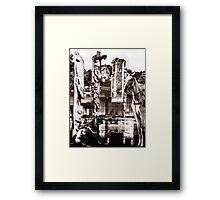 Cowboys and Indians. Framed Print