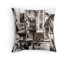 Cowboys and Indians. Throw Pillow