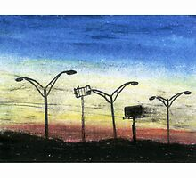Sunset Over I-85 by David Webb