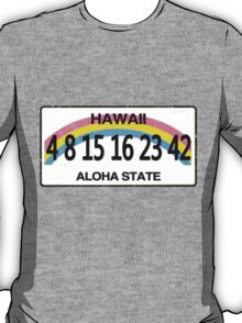 Lost Numbers License Plate T-Shirt