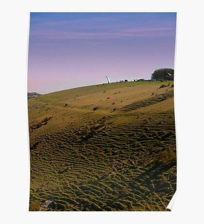 Evening On Devil's Dyke Poster