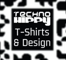QR Code Technohippy Logo Sticker