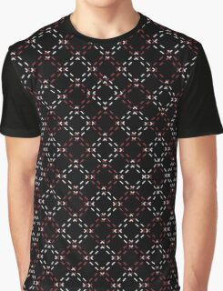 Red and White  Squares Graphic T-Shirt