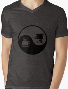 Ying and Yang of Coffee Mens V-Neck T-Shirt